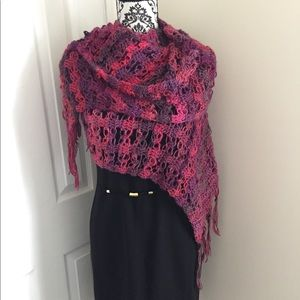 Accessories - NWOT SHAWL  HAND KNITTED